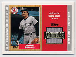 2002 Topps Archives Uniform Relics #TURWB Wade Boggs 87