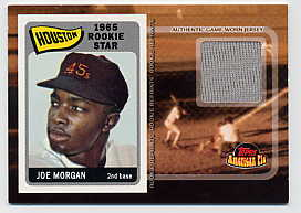 2001 Topps American Pie Rookie Reprint Relics #BBRRJM Joe Morgan Jsy