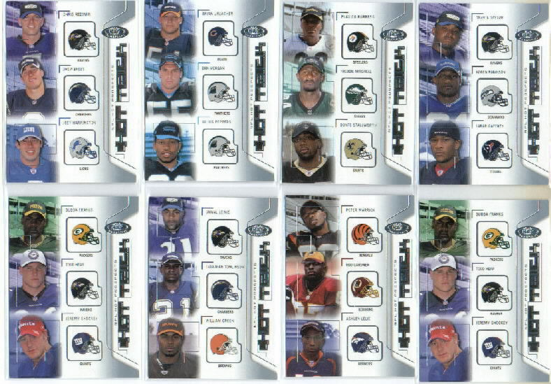 2002 Hot Prospects Hat Trick #HTLTG Jaml Lewis/LaDainian Tomlinson/William Green
