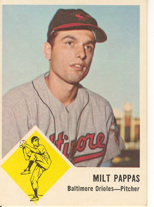 1963 Fleer #3 Milt Pappas front image