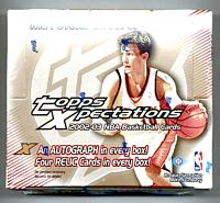 2002-03 Topps Xpectations factory-sealed basketball hobby box - 5 AU/memorabilia cards
