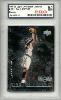 1998-99 Upper Deck Black Diamond #101 Paul Pierce RC Graded Mint 9