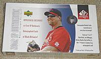 2002 Upper Deck SP Authentic baseball factory-sealed hobby box