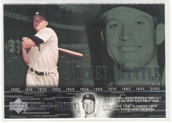 2002 UD Piece of History #38 Mickey Mantle SP
