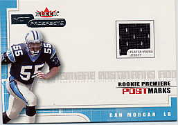 2001 Hot Prospects Rookie Premiere Postmarks Jerseys #20 Dan Morgan