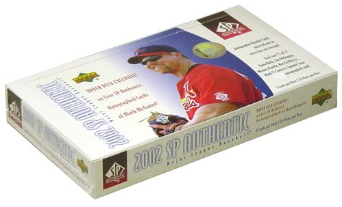 2002 Upper Deck SP Authentic Baseball Hobby Box, Factory Sealed