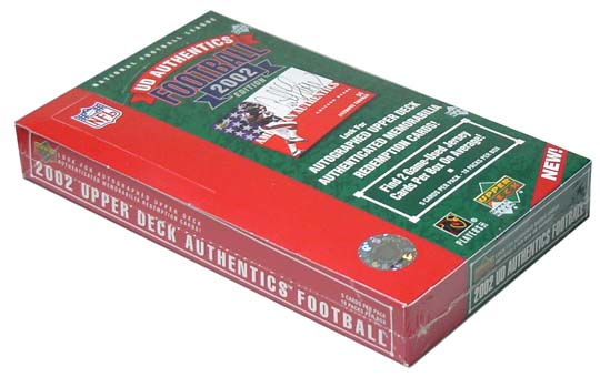 2002 Upper Deck UD Authentics Football Hobby Box, Factory-Sealed