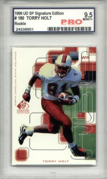 1999 Upper Deck SP Signature Edition #180 Torry Holt RC Graded Mint+ 9.5