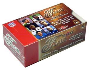 2002 Flair Football 10-Pack Mini Box, Factory Sealed