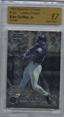 1999 Bowman Chrome Baseball #I-20 Ken Griffey Jr. Lasting Impact CE Gem Mint 9.7 NICE!!