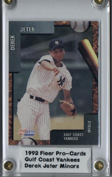 1992 Fleer Pro-Cards Baseball Minors Gulf Coast Yankees #3797 Derek Jeter Rookie League Card