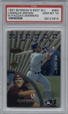 1997 Bowman's Best Baseball #MI4 Marrero/M Piazza/I Rodriguez/K Brown Mirror Image PSA GEM MINT 10!!