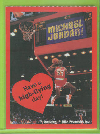 1991 Cleo Michael Jordan Valentines #2 Have a high-flying