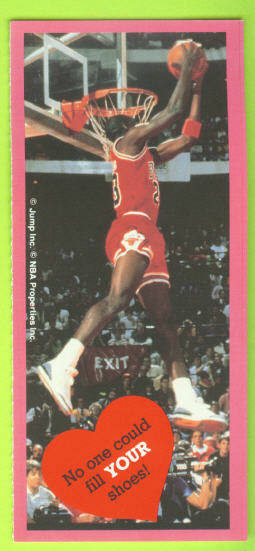 1991 Cleo Michael Jordan Valentines #6 No one could fill