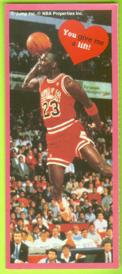 1991 Cleo Michael Jordan Valentines #8 You give me a lift