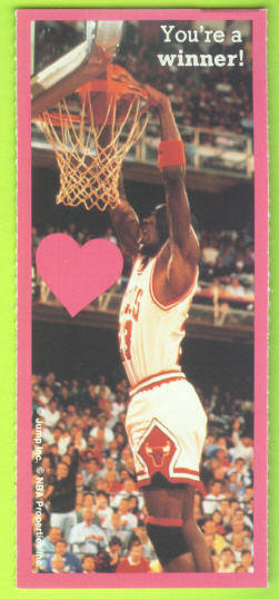 1991 Cleo Michael Jordan Valentines #9 You're a winner