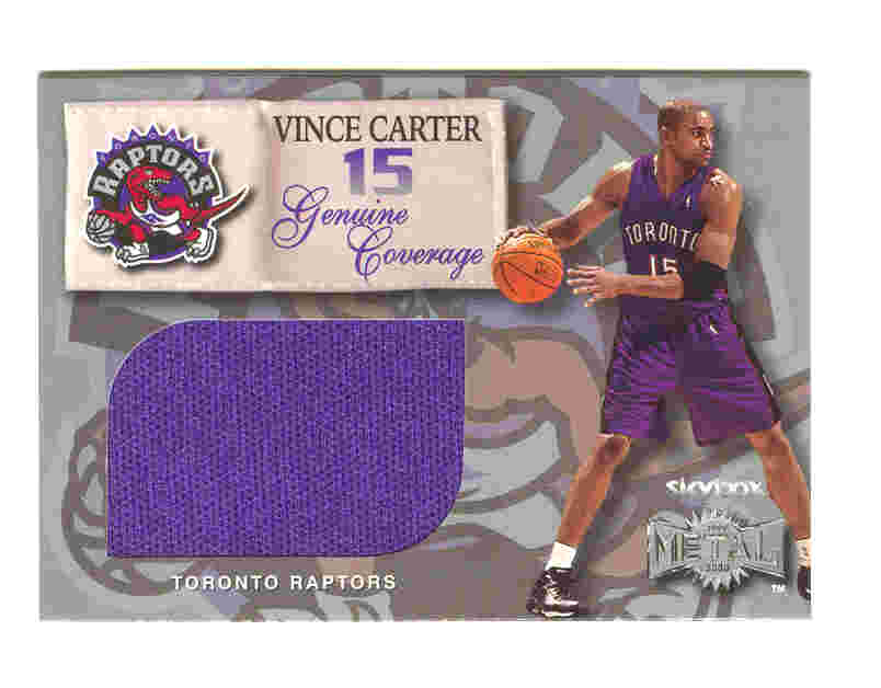 Vince Carter Genuine Coverage Purple Warmups Jersey  1999-2000 99-00 Metal