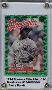 1994 Donruss Elite Baseball #16 Barry Bonds Elite Dominator #1848/3000 Mint NICE!!
