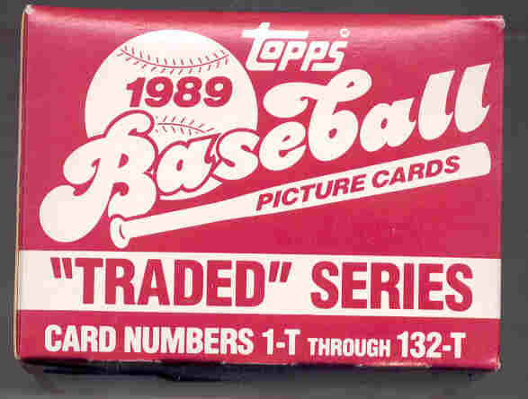 1989 TOPPS TRADED BASEBALL SET -GRIFFEY,JR.-  KENNY ROGERS - DEION SANDERS - RANDY JOHNSON ROOKIES