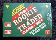 1991 SCORE TRADED/ROOKIE BASEBALL SET