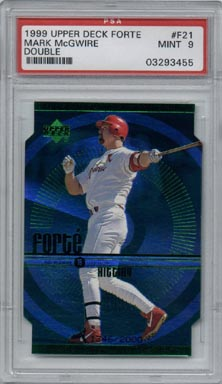 1999 Upper Deck Baseball #F21 Mark McGwire Forte Double #1346/2000 PSA MINT 9 NICE!!
