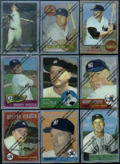 1996 Topps Mantle Finest #4 Mickey Mantle 1954 Bowman