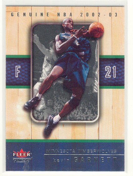 2002-03 Fleer Genuine #50 Kevin Garnett