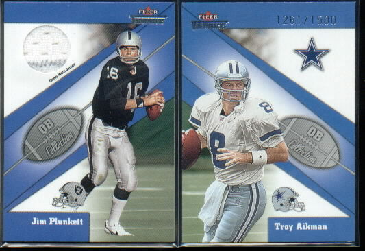 2002 Fleer Throwbacks QB Collection Memorabilia #13 Jim Plunkett