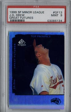 1999 Upper Deck SP Top Prospects Baseball #GF13 J.D. Drew Great Futures Minor League PSA MINT 9 NICE!!