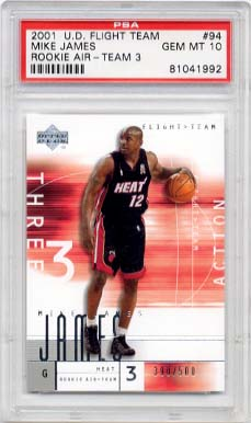 2001 Upper Deck Flight Team Mike James Rookie Air #94 PSA 10 GEM MINT
