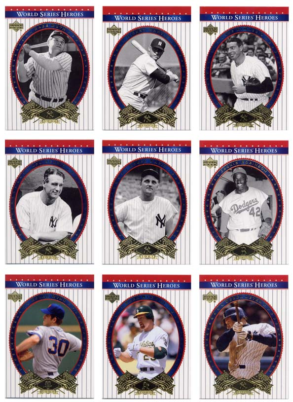 2002 Upper Deck World Series Baseball 90-Card Complete Set