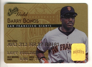 1995 Studio Barry Bonds Gold #7