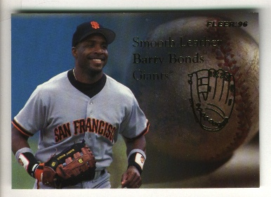 1996 Fleer Update Smooth Leather #2 Barry Bonds