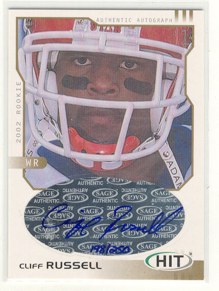 2002 SAGE HIT Autographs Gold #H31 Cliff Russell