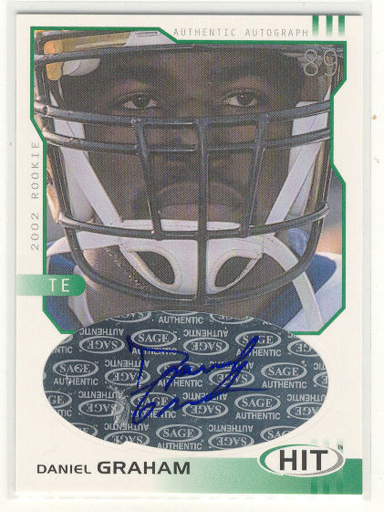 2002 SAGE HIT Autographs Emerald #H39 Daniel Graham