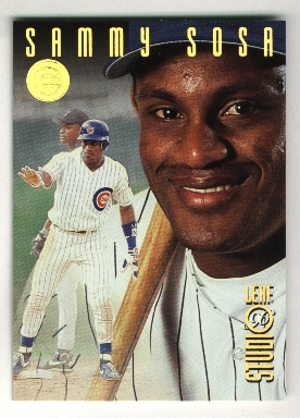 1996 Studio Gold Press Proofs #43 Sammy Sosa