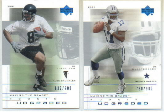 2001 UD Graded #90 Alge Crumpler Action RC