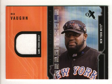 2002 E-X Game Essentials #31 Mo Vaughn Jsy