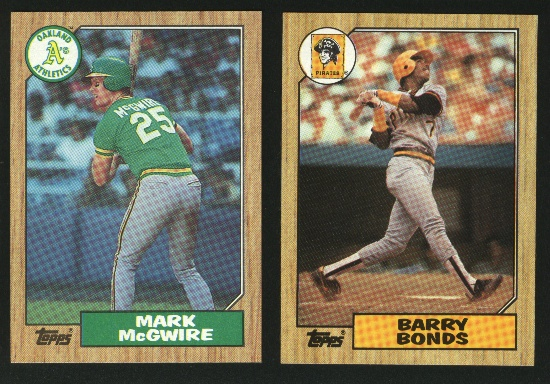 1987 Topps Baseball Complete Set NM/MT -- Bonds Palmeiro RCs