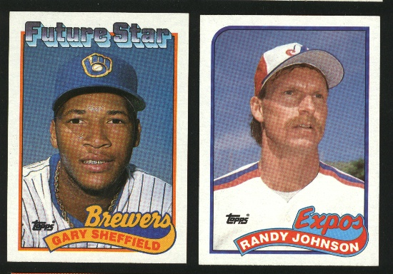 1989 Topps Baseball Complete Set NM/MT -- Johnson Sheffield RCs