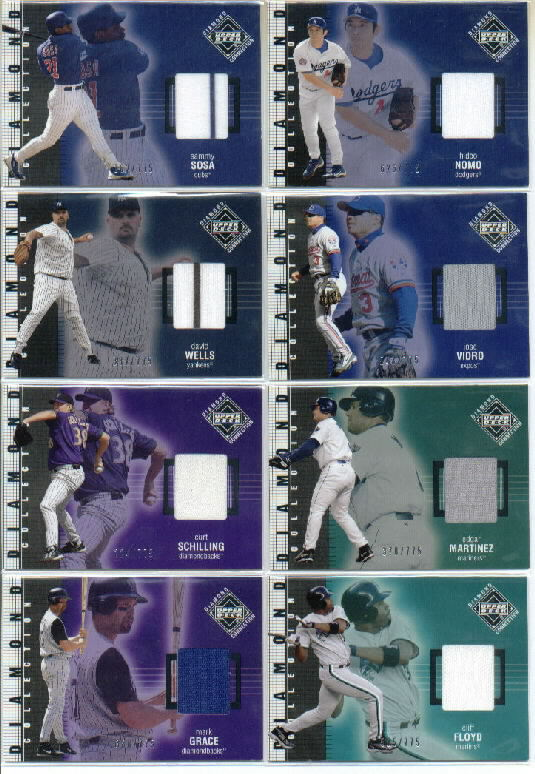 2002 Upper Deck Diamond Connection #221 Mark Grace DC Jsy