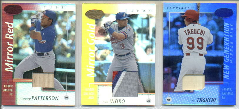 2002 Leaf Certified Mirror Blue #159 So Taguchi NG Bat