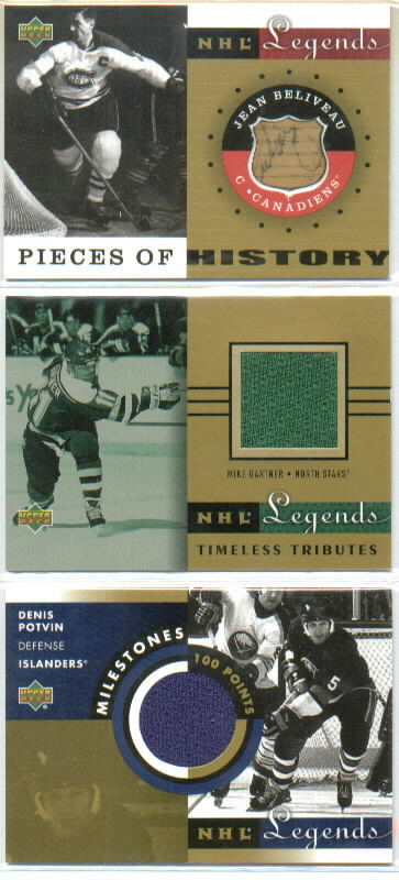 2001-02 Upper Deck Legends Pieces of History Sticks #PHJB Jean Beliveau