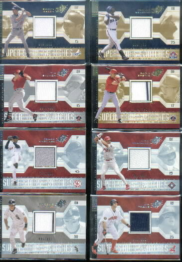 2002 SPx SuperStars Swatches Gold #161 Darin Erstad