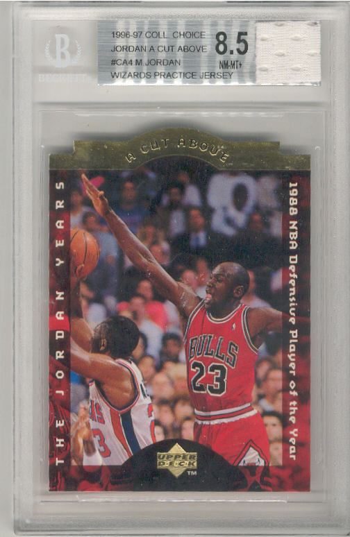 1996-97 Collector's Choice A Cut Above Michael Jordan CA4 w/JERSEY BGS-8.5 NM/MT+ BGS