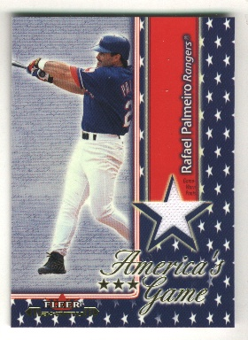 2002 Fleer Maximum Americas Game Jersey #16 Rafael Palmeiro