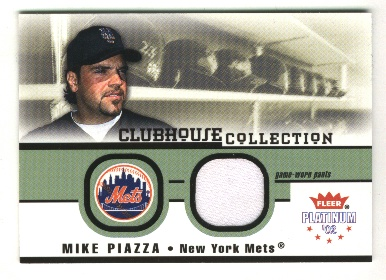 2002 Fleer Platinum Clubhouse Memorabilia #26 Mike Piazza Jsy/950