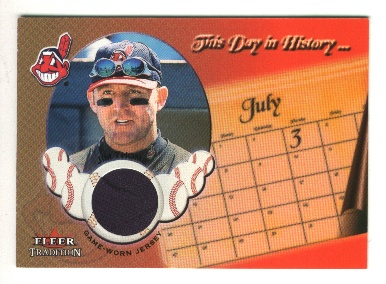 2002 Fleer Tradition Update This Day In History Game Used #20 Jim Thome Jsy