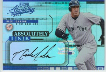 2002 Absolute Memorabilia Absolutely Ink #42 Nick Johnson