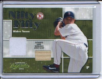 2002 Donruss Originals Nifty Fifty Combos #47 Hideo Nomo Red Sox